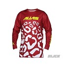 ALIAS A2 Youth Cheetah Jersey Maroon White Size L