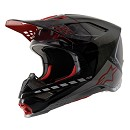 ALPINESTARS SUPERTECH S-M10 HELMET LE SAN DIEGO 2020 BLACK / SILVER / RED MATTE AND GLOSSY