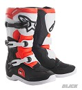 ALPINESTARS Boots TECH 3 Kids BLACK / WHITE / RED FLUO Size 4 (37)