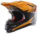 ALPINESTARS Supertech M10 Dyno Helmet ECE BLACK CARBON / ORANGE MATT / GLOSSY