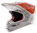 ALPINESTARS Supertech M8 Triple Helmet ECE ORANGE FLUO / WHITE / GOLD MATT / GLOSSY