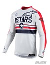 ALPINESTARS Racer Tech Five Star San Diego Jersey Cool Gray / Bright Red
