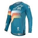 ALPINESTARS Techstar Venom Jersey Petrol / White / Orange Fluo