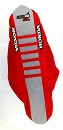 D'Cor Seatcover CRF250 18-20 / CRF450 17-20 Honda Red Sides / Grey Top / Red Ribs
