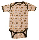 SMOOTH 1pc Romper MX AllOver Brown 12-18 Month
